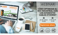 Webinar de LAPP para optimizar la red industrial con los diferentes cables Ethernet