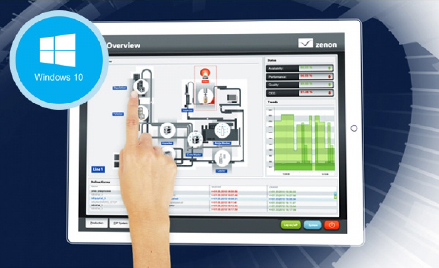 SCADA zenon es compatible con Windows 10