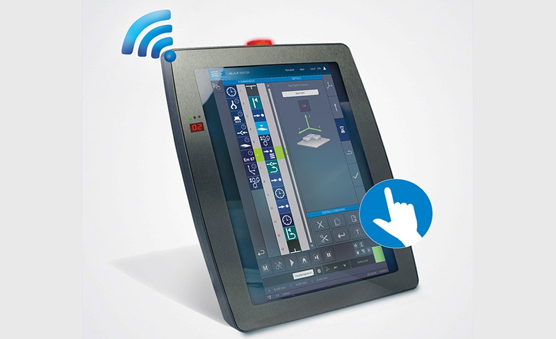 Panel HMI Wireless, Multi-touch y funciones de seguridad