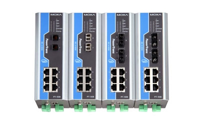 PT-500: Switches Ethernet IEC 61850 para Carril DIN