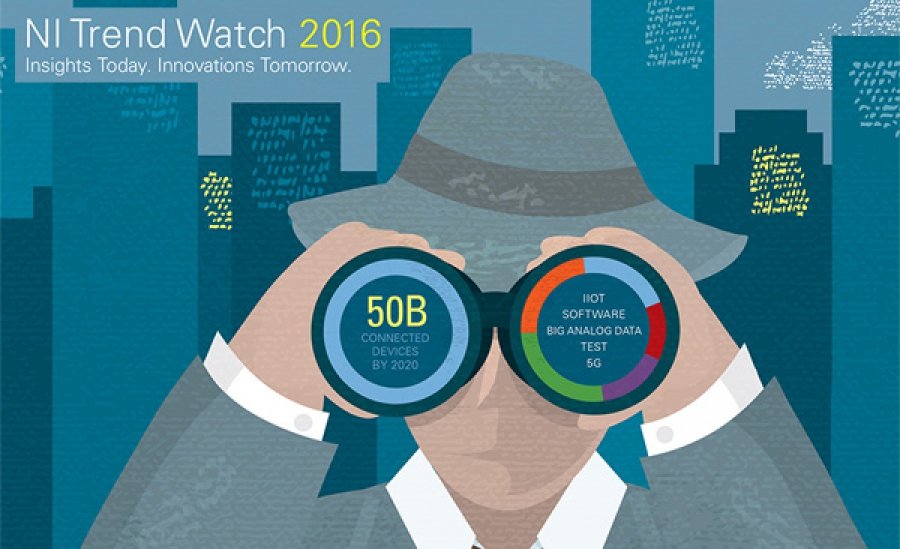 Trend Watch 2016 de National Instruments a cerca de IoT
