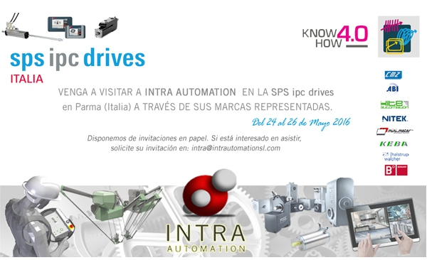 INTRA AUTOMATION presente en SPS IPC Drives Italia