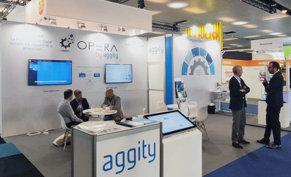 Aggity muestra OPERA Mes con inteligencia artificial y business intelligence en Advaced Factories